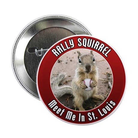 "Rally Squirrel - The St Louis 2.25"" Button"