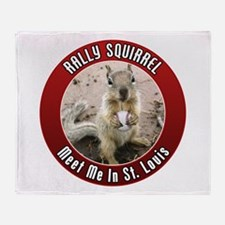 Rally Squirrel - The St Louis Throw Blanket