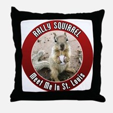 Rally Squirrel - The St Louis Throw Pillow