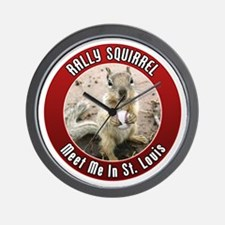 Rally Squirrel - The St Louis Wall Clock