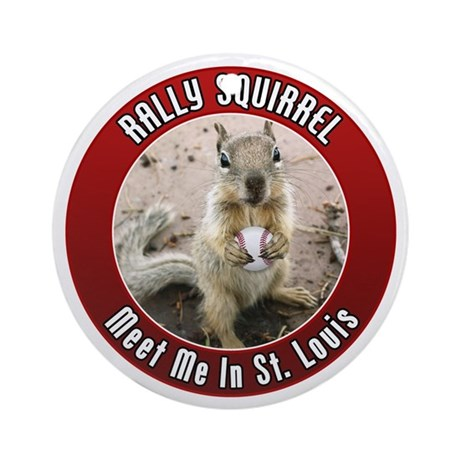 Rally Squirrel - The St Louis Ornament (Round)