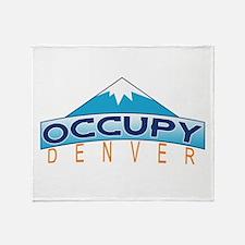 Occupy Denver Throw Blanket