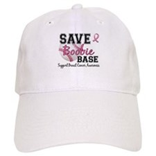 Second 2nd Base Breast Cancer Baseball Cap