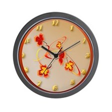 A Fiery Wild Autumn Ride Wall Clock
