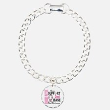 Second 2nd Base Breast Cancer Charm Bracelet, One