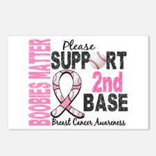 Second 2nd Base Breast Cancer Postcards (Package o