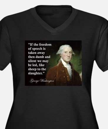 George Washington Freedom of Women's Plus Size V-N