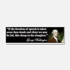 George Washington Freedom of Car Magnet 10 x 3