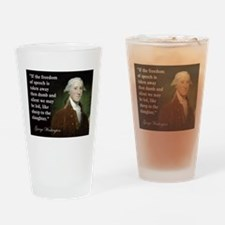 George Washington Freedom of Drinking Glass
