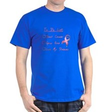 Breast Cancer To Do List T-Shirt