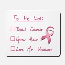 Breast Cancer To Do List Mousepad