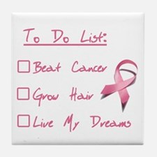 Breast Cancer To Do List Tile Coaster
