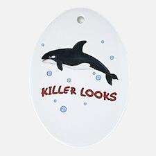 Orca Whale - Killer Looks - Ornament (Oval)