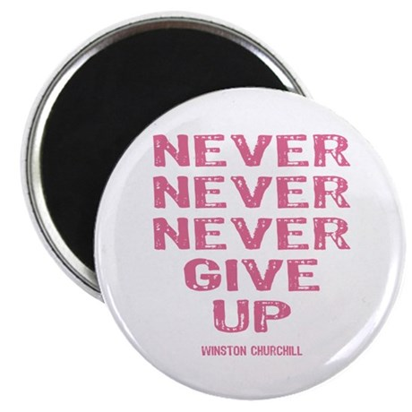 Breast Cancer Never Give Up Magnet