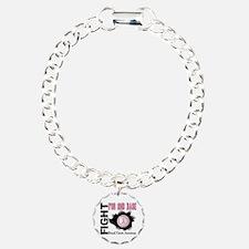 Second 2nd Base Breast Cancer Charm Bracelet, One
