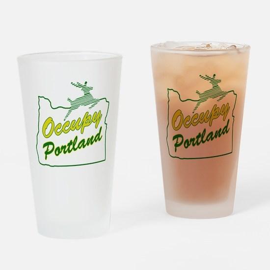Occupy Portland Drinking Glass