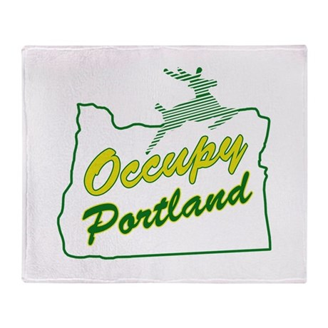 Occupy Portland Throw Blanket