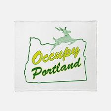 Occupy Portland Throw Blanket