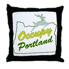 Occupy Portland Throw Pillow