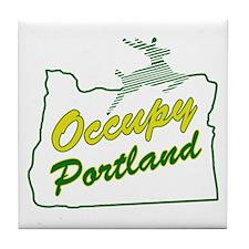 Occupy Portland Tile Coaster