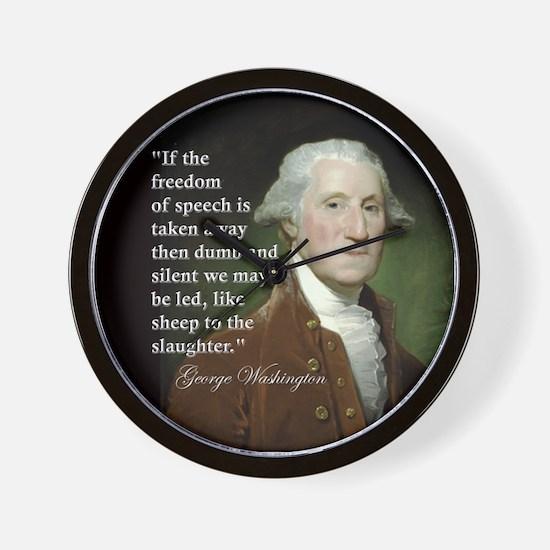 George Washington Freedom of Wall Clock