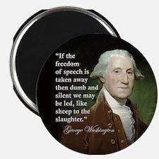 """George Washington Freedom of 2.25"""" Magnet (10"""