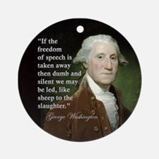 George Washington Freedom of Ornament (Round)