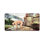 Castle Greyhound Aluminum License Plate