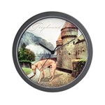 Castle Greyhound Wall Clock