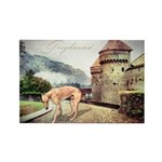 Castle Greyhound Rectangle Magnet