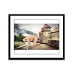 Castle Greyhound Framed Panel Print