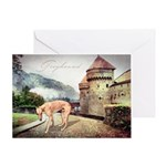 Castle Greyhound Greeting Card