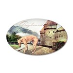Castle Greyhound 38.5 x 24.5 Oval Wall Peel