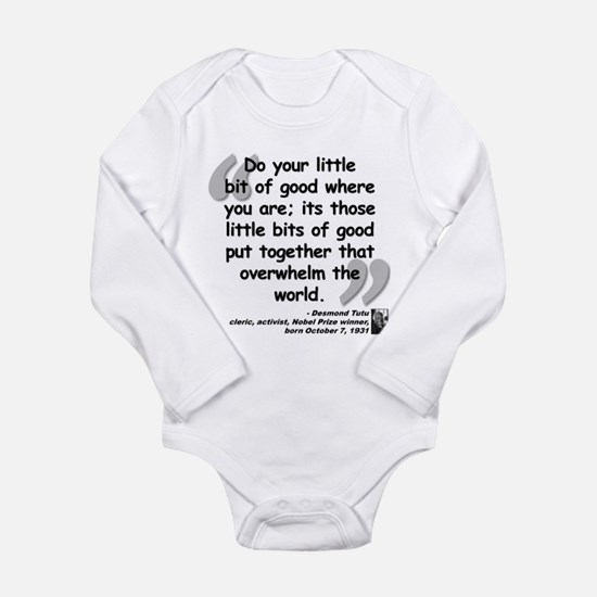 Tutu Good Quote Long Sleeve Infant Bodysuit