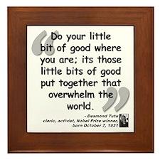 Tutu Good Quote Framed Tile