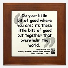 Tutu Good Quote Framed Tile