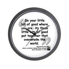 Tutu Good Quote Wall Clock