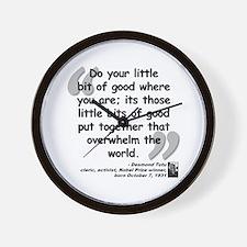 Tutu Good Quote Wall Clock