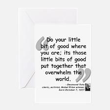 Tutu Good Quote Greeting Card