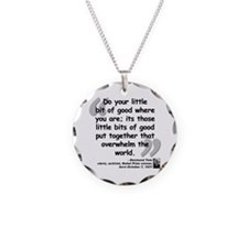 Tutu Good Quote Necklace