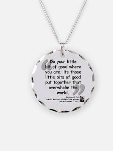 Tutu Good Quote Necklace