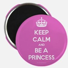 """Keep Calm and Be A Princess 2.25"""" Magnet (100 pack"""