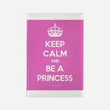 Keep Calm and Be A Princess Rectangle Magnet