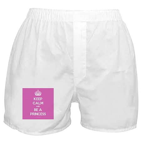 Keep Calm and Be A Princess Boxer Shorts