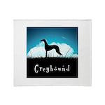 Nightsky Greyhound Throw Blanket