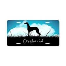 Nightsky Greyhound Aluminum License Plate