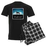 Nightsky Greyhound Men's Dark Pajamas