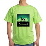 Nightsky Greyhound Green T-Shirt