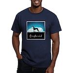 Nightsky Greyhound Men's Fitted T-Shirt (dark)