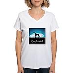 Nightsky Greyhound Women's V-Neck T-Shirt